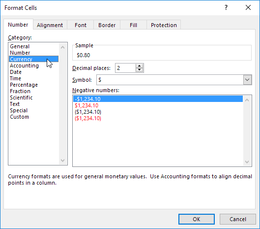note excel gives you a life preview of how the number will be formatted under sample