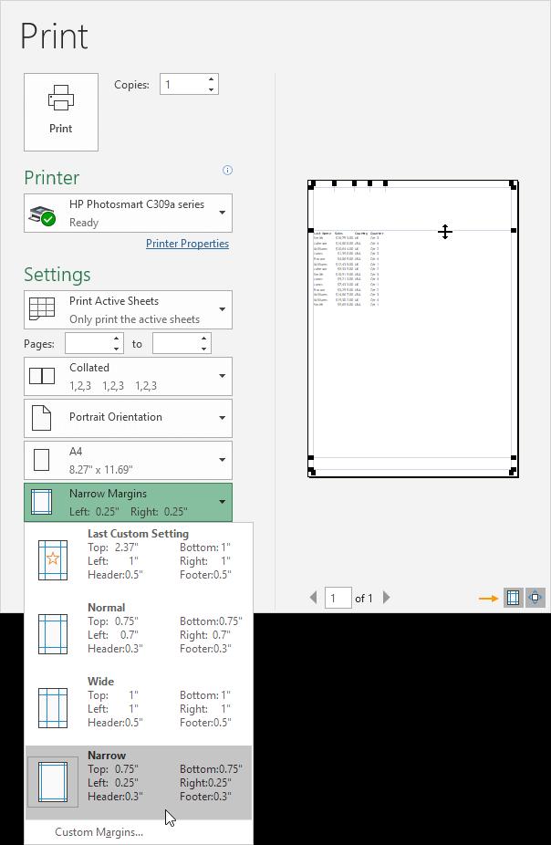 ページマージンを調整する