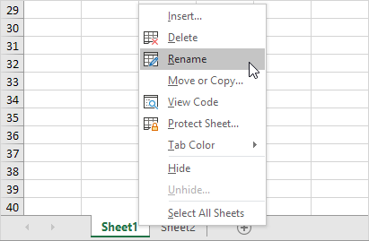 Worksheets in Excel - Easy Excel Tutorial