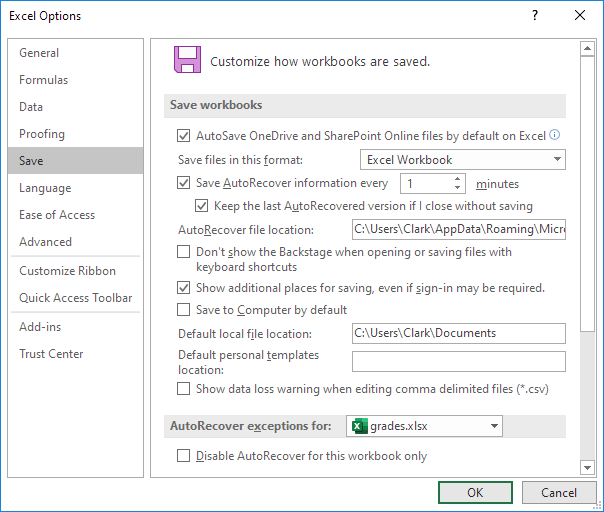 accidentally closed excel without saving 2010
