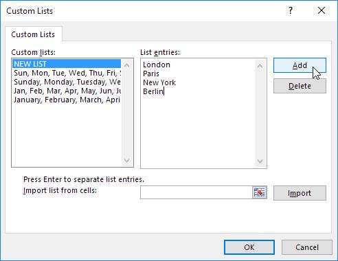 Custom Lists in Excel - Easy Excel Tutorial