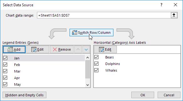 Switch Row/Column
