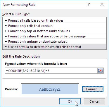 New Formatting Rule