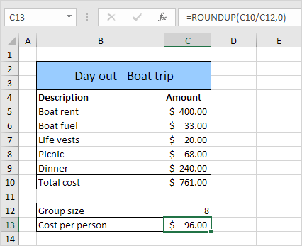 Formula Auditing Example