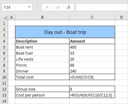 Show Formulas Result