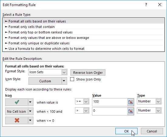 Icon Sets In Excel Easy Excel Tutorial