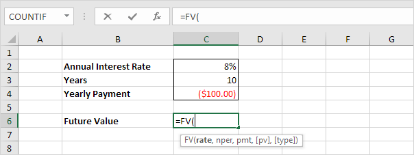 investment or annuity in excel easy excel tutorial