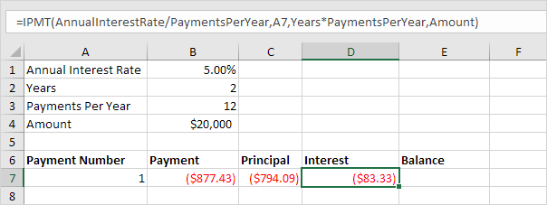how to calculate interest and principal payments on a loan