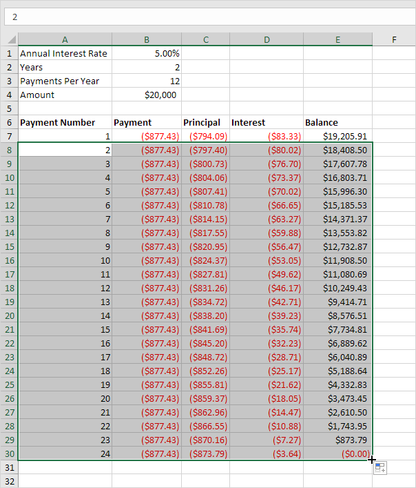 excel how to take the suberb off