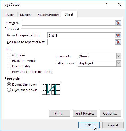 Print Titles in Excel - Easy Excel Tutorial