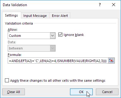 ms excel confirmation code