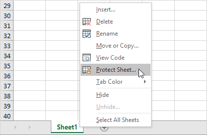 Protect a sheet in excel easy excel tutorial protect sheet ibookread PDF