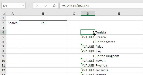 Search Box in Excel - Easy Excel Tutorial