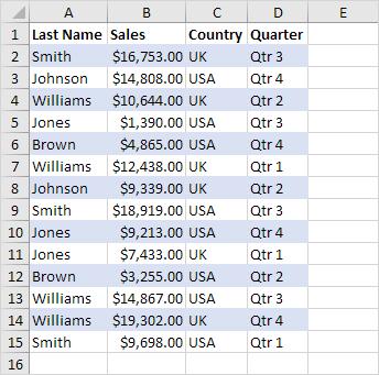 Shade Alternate Rows in Excel - Easy Excel Tutorial
