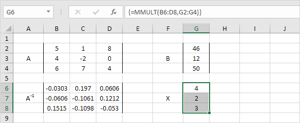 Solve a System of Linear Equations in Excel - EASY Excel Tutorial
