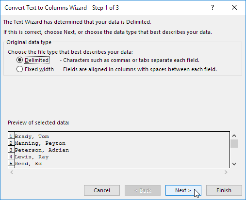 text to columns in excel easy excel tutorial