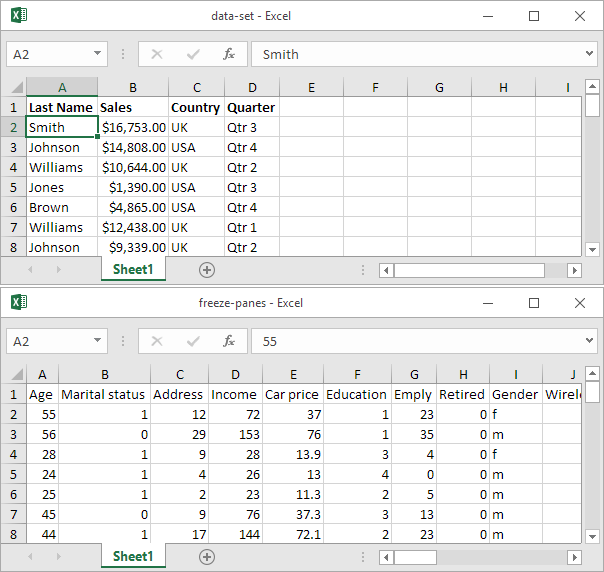 Example Of Multiple Workbooks In Excel