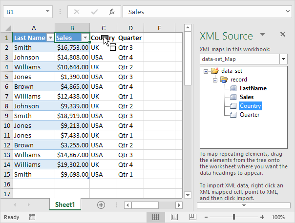 XML in Excel - Easy Excel Tutorial