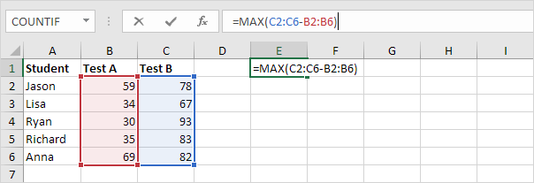 With Excel Array Formula in excel