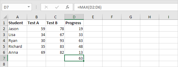 Without Excel Array Formula, Step 2 in excel