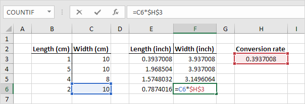 Absolute Reference in Excel