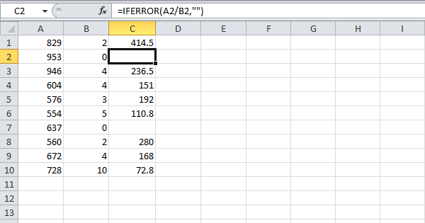 div 0 error in excel how to avoid