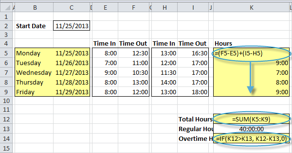 Time Sheet in Excel - EASY Excel Tutorial