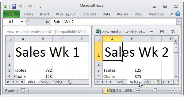 math worksheet : view multiple worksheets in excel  easy excel tutorial : Multiple Worksheets In Excel