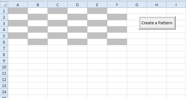 Create A Pattern In Excel Vba Easy Excel Macros