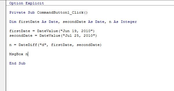 Excel Vba Datediff Function Easy Excel Macros