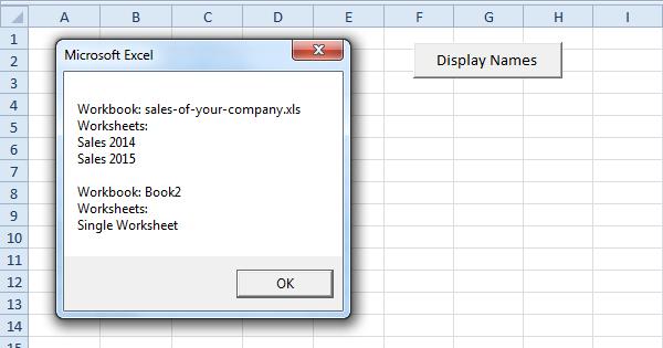 Loop through Books and Sheets in Excel VBA EASY Excel Macros – Vba Worksheets