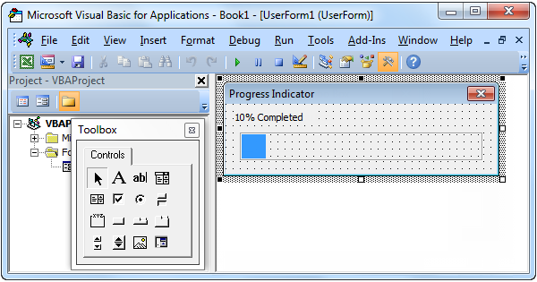 Progress Indicator In Excel Vba Easy Excel Macros