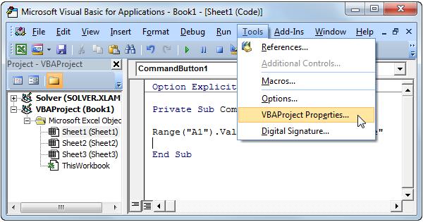 Password Protect Excel Macro - EASY Excel VBA