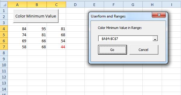 excel vba userform and ranges easy excel macros