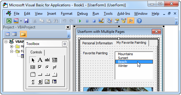 excel vba userform with multiple pages easy excel macros