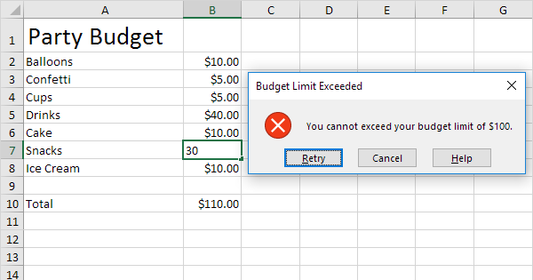 Budget Limit in Excel - Easy Excel Tutorial