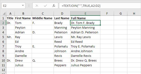Concatenate Strings in Excel - Easy Excel Tutorial