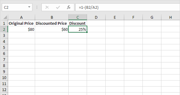Calculate Percentage Discount In Excel Easy Excel Tutorial