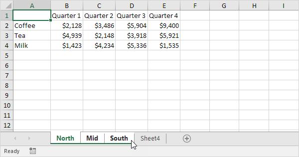 Group Worksheets in Excel - Easy Excel Tutorial