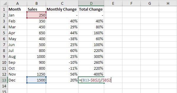 percentage formula in excel pdf
