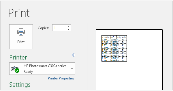 excel how to make table with vertical and horizontal heading