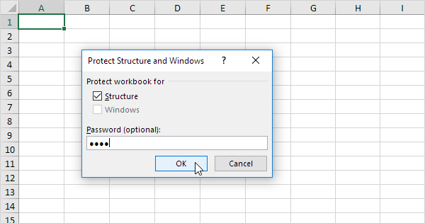 Protect a Workbook in Excel - EASY Excel Tutorial