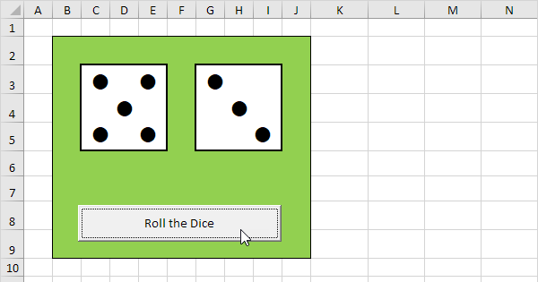 roll two dice in excel easy excel tutorial