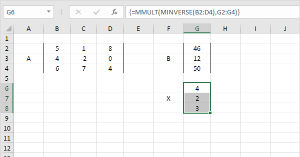 Solve a System of Linear Equations in Excel - Easy Excel