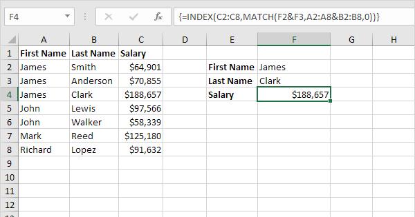 Two-column Lookup in Excel - EASY Excel Tutorial