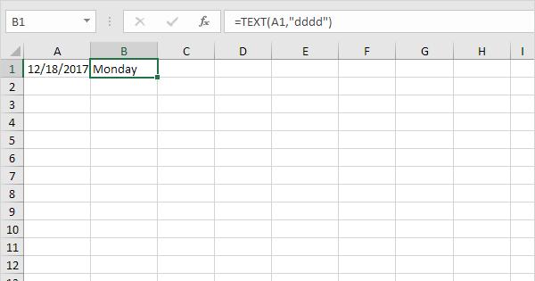 Weekdays in excel easy excel tutorial maxwellsz