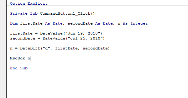 Excel VBA DateDiff Function - Easy Excel Macros