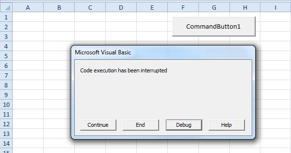 interrupt a macro in excel easy excel vba
