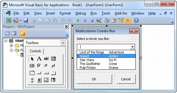 Excel VBA Multicolumn Combo Box - Easy Excel Macros