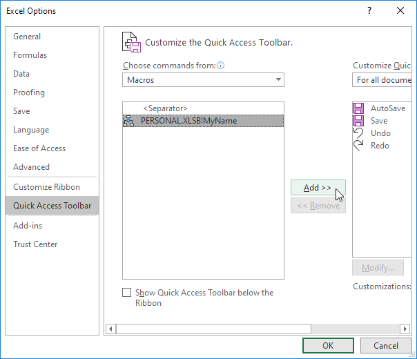 how to add strikethrough in excel toolbar